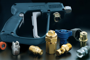 GunJet and spray nozzles for car wash industry